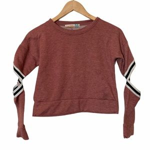 🛍 VINTAGE HAVANA Crop Exposed Elbow Sweatshirt M